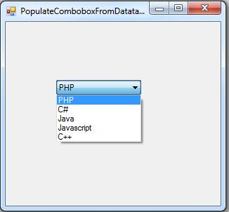 c# data datatable to combobox