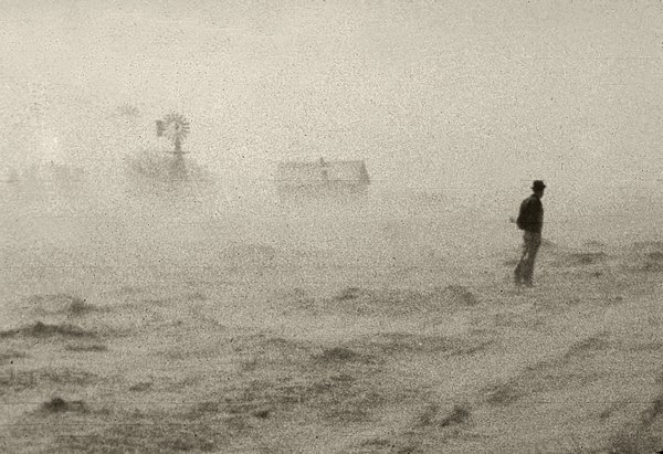 Dust storm in 1933