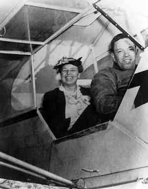 "Eleanor Roosevelt Supports Tuskegee Airmen:  In March 1941, Eleanor Roosevelt flew with a Tuskegee instructor, C. Alfred ""Chief"" Anderson which gave Tuskegee a publicity boost."