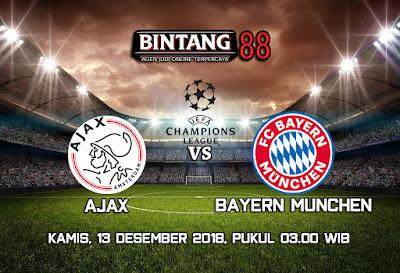 Prediksi Ajax Amsterdam VS Bayern Munchen 13 Desember 2018