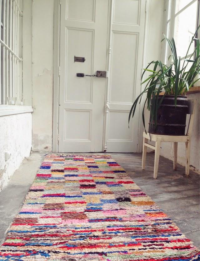 tapis de couloir ethnique boucherouite