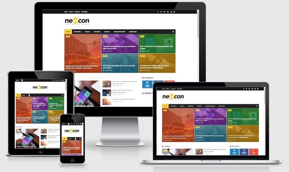 Newcon News/Magazine Responsive Blogger Template - Template tin tức tạp chí mới nhất 2017