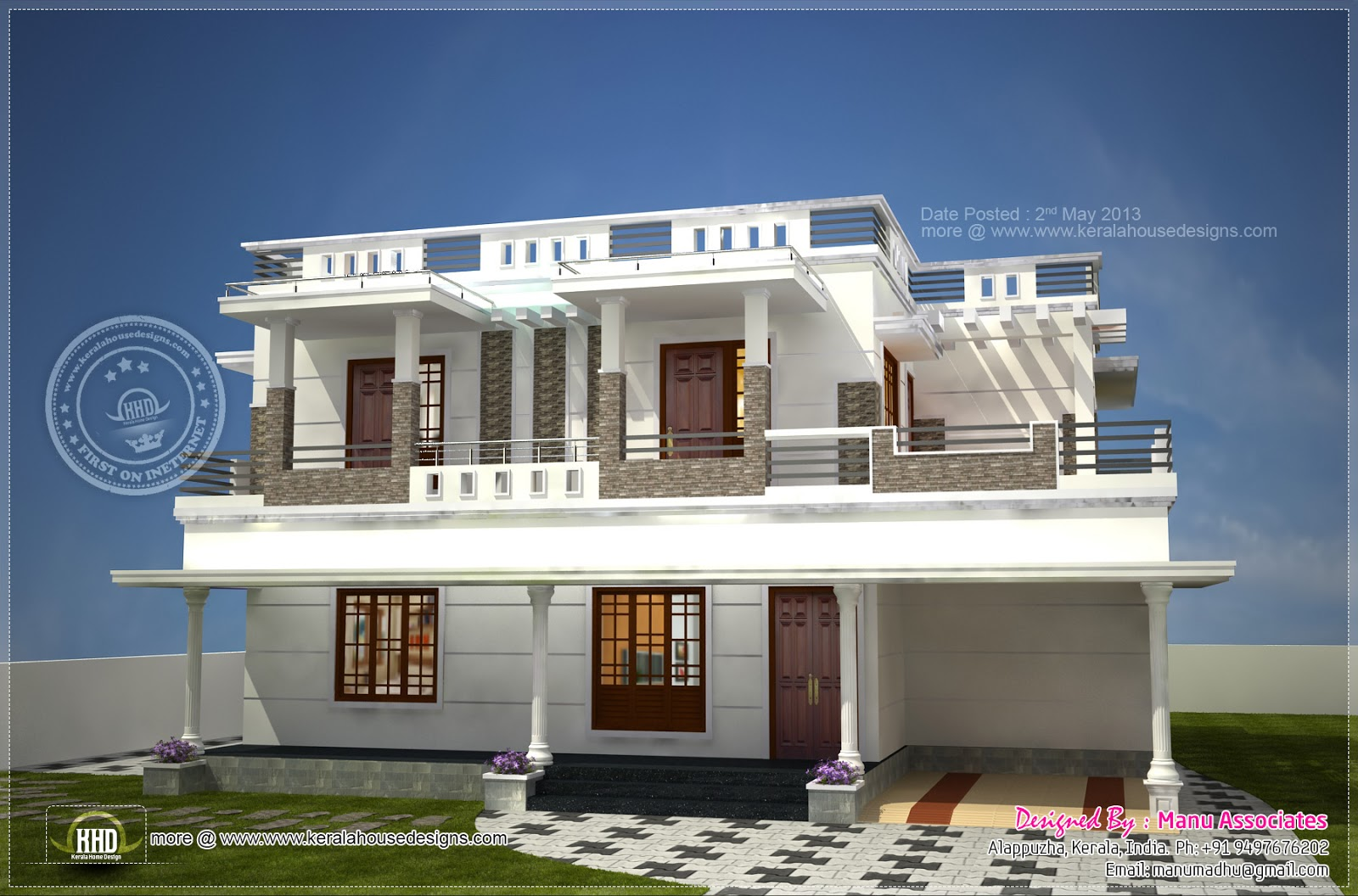 Modern home design in alappuzha kerala house design plans for Modern house details