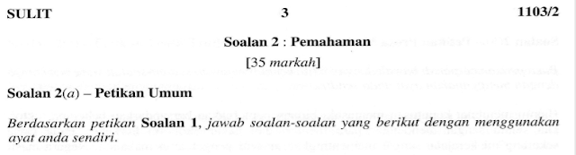 Analisis Soalan  2 (B), 2 (C), Dan 2 (D):  Kajian Komsas Antologi Kertas 2 Bahasa Melayu Spm