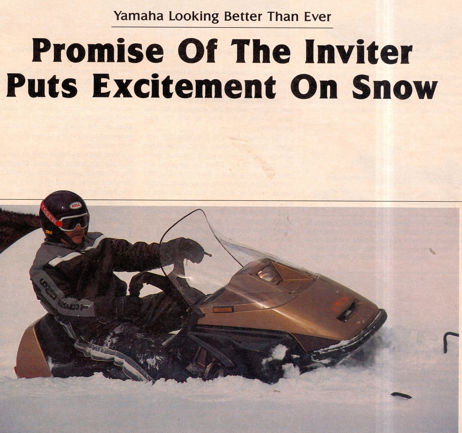 Classic Snowmobiles Of The Past 1986 Yamaha Inviter Snowmobile