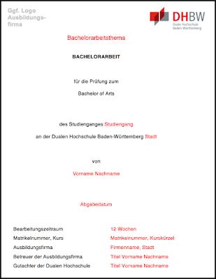 Word-Vorlage, bachelorarbeit, Masterarbeit, Dissertation