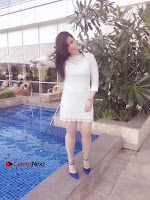 Actress Mannara Chopra Latest Poshoot Gallery in White Short Dress  0007.jpg