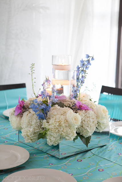 Blooming Table Tiffany Blue Sweet 16