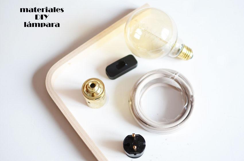 materiales para hacer tu lampara
