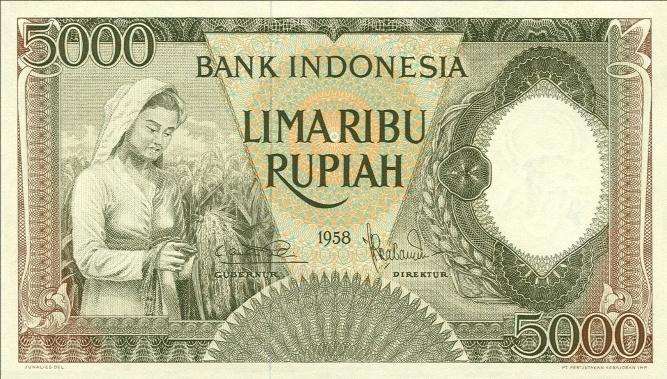 5 ribu rupiah 1959 depan