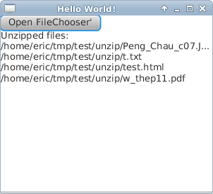Java-Buddy: Decompress files from  zip using java util zip