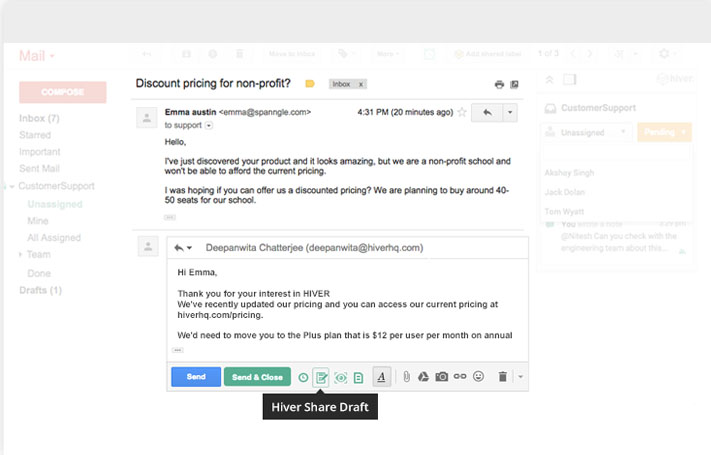 shared gmail inbox