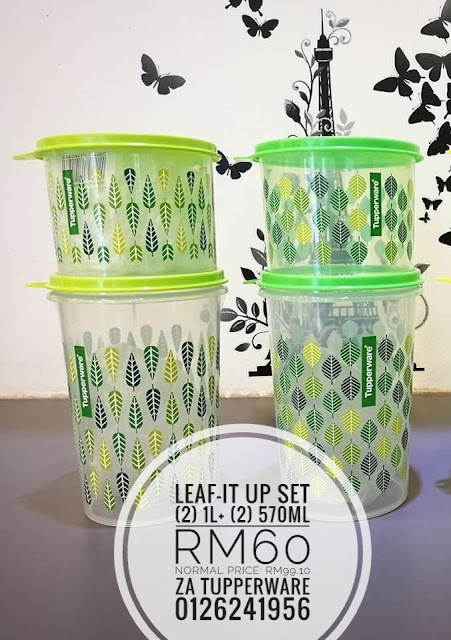 Tupperware Leaf-It-Up Set (2) 1L+(2) 570ml (SetA)