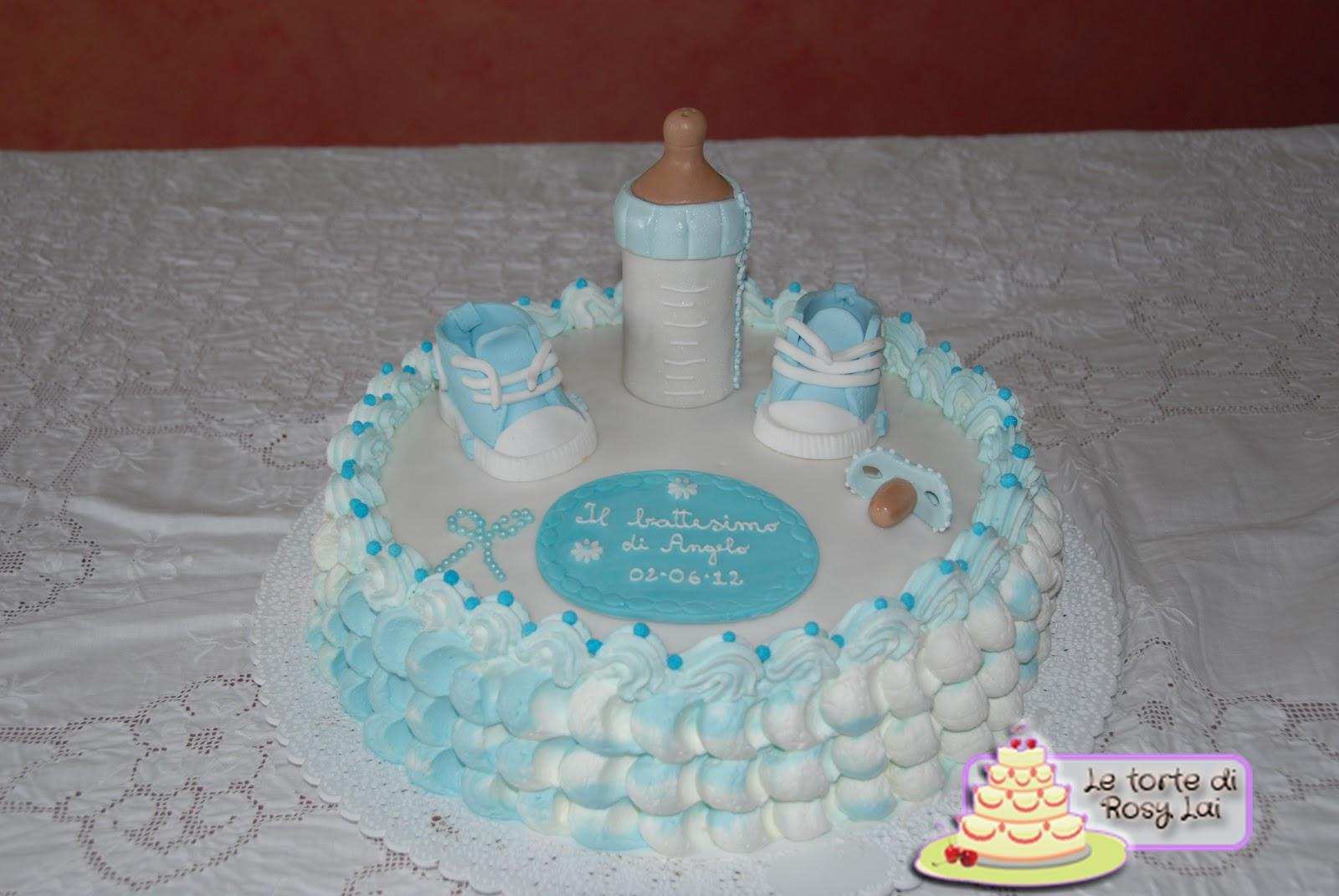 Ben noto LE TORTE DI ROSY LAI: Torta battesimo con ciuccio,biberon e  YS58