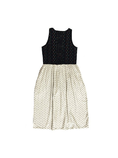 Ace & Jig Soiree Dress in Carnival & Pearl (Back)
