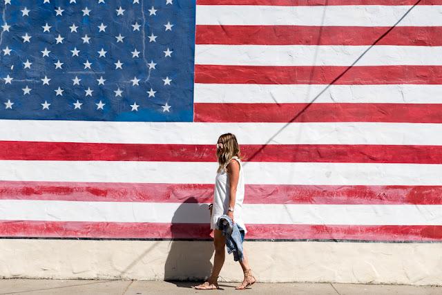 flag wall parlor girl