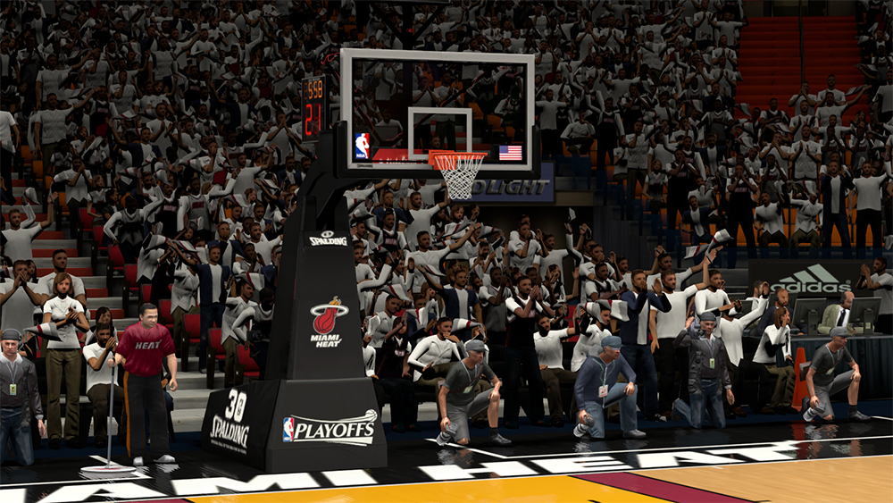 NBA 2K14 Heat Playoffs Stadium/Backboard Mod