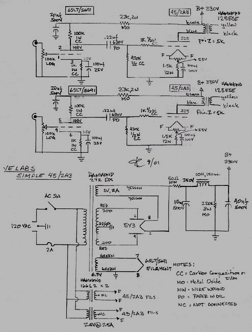 JE Labs Simple 45/2A3 | JE Labs Arkiv (up to 2008) Hammond Ese Output Transformer Wiring Diagram on isolation transformer wiring diagrams, 12 phase transformer diagrams, transformer hook up diagrams, electrical schematic diagrams, jefferson transformer wiring diagrams, hammond organ schematic diagrams, hammond organ wiring-diagram, transformer connection diagrams, hammond parts wiring diagrams,
