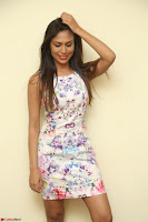 Nishi Ganda stunning cute in Flower Print short dress at Tick Tack Movie Press Meet March 2017 034.JPG
