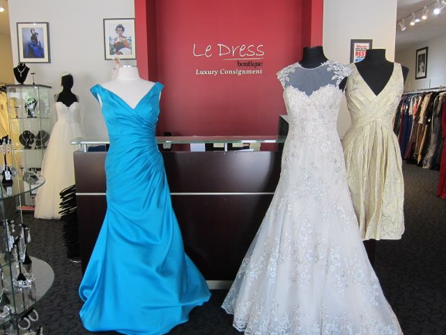 Gorgeous mother of the bride and wedding gowns at le dress for Build your dream wedding dress