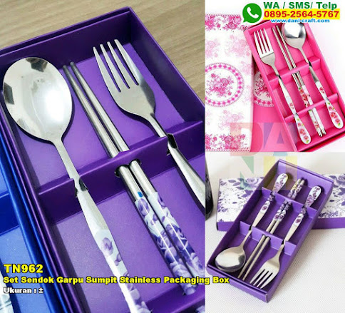 Set Sendok Garpu Sumpit Stainless Packaging Box