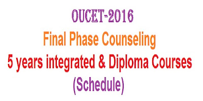 OUCET 5 yr integrated & PG Diploma Final counseling