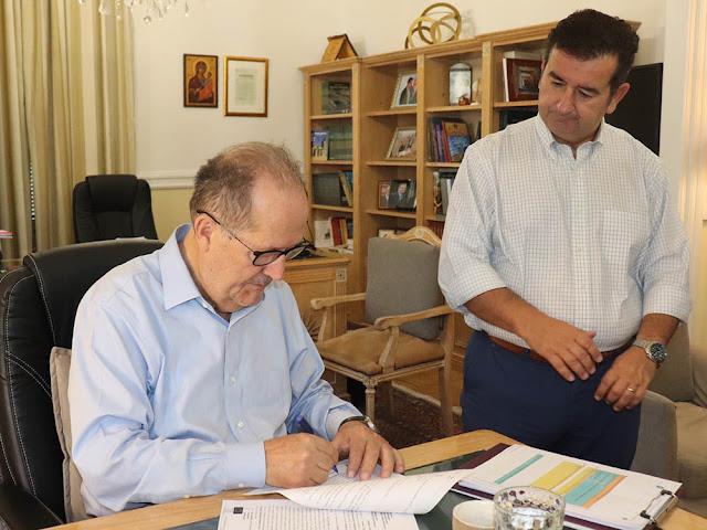 Δυο έργα 840.000€ στην Αργολίδα υπέγραψε ο Περιφερειάρχης Πελοποννήσου