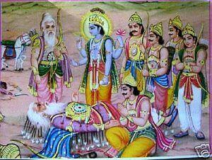 Bheeshma on arrowbed story mahabharata,Bheeshma vad story mahabharata