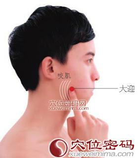 大迎穴位 | 大迎穴痛位置 - 穴道按摩經絡圖解 | Source:xueweitu.iiyun.com