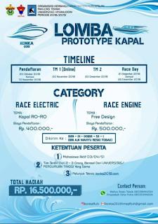 Lomba Prototype Kapal Nasional KONKA 2018 di Universitas Hasanuddin