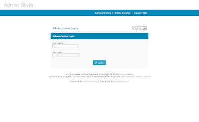Free osCommerce 2.3.3 Admin Template Dark Aqua Style