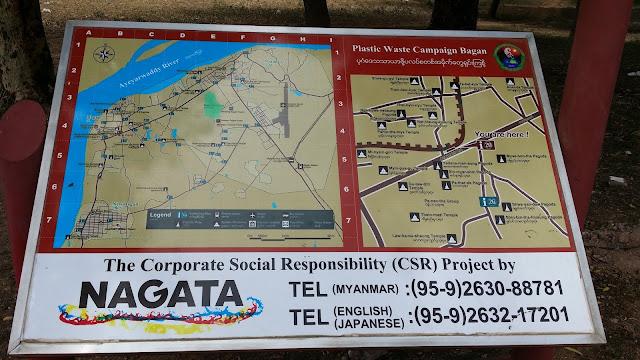 Señalización en Bagán