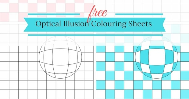 Free Optical Illusion Colouring Sheets | Grade Onederful