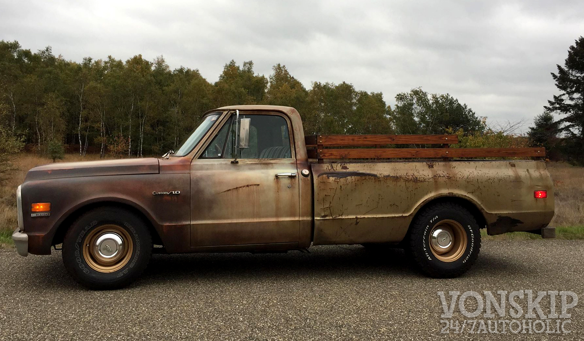 1969 c10 ratrod pick up v8 350 cui and 350 with 400cui heads 350 automatic trans powersteering we converted it to power booster brakes  [ 1200 x 702 Pixel ]