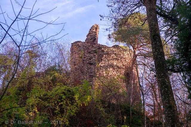 Château du Schwarzenbourg - mur-bouclier