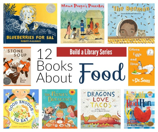 Build your home library with this collection of a dozen books about food that your kids are sure to love! via myveryeducatedmother.com