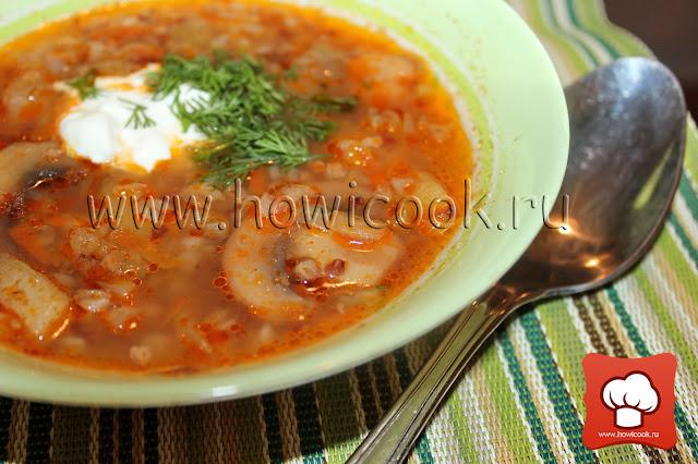 рецепт как приготовить вкусный суп с грибами