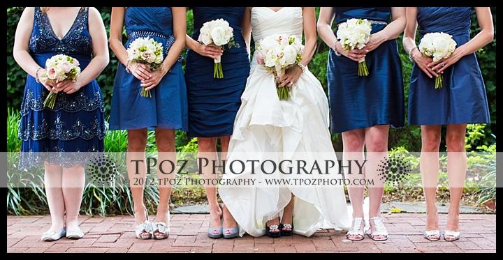 1840's Ballroom Wedding Bridesmaids Bouquets