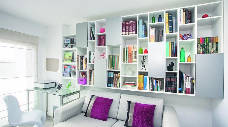 Decoraci n dormitorios con libreros - Libreros de madera modernos ...