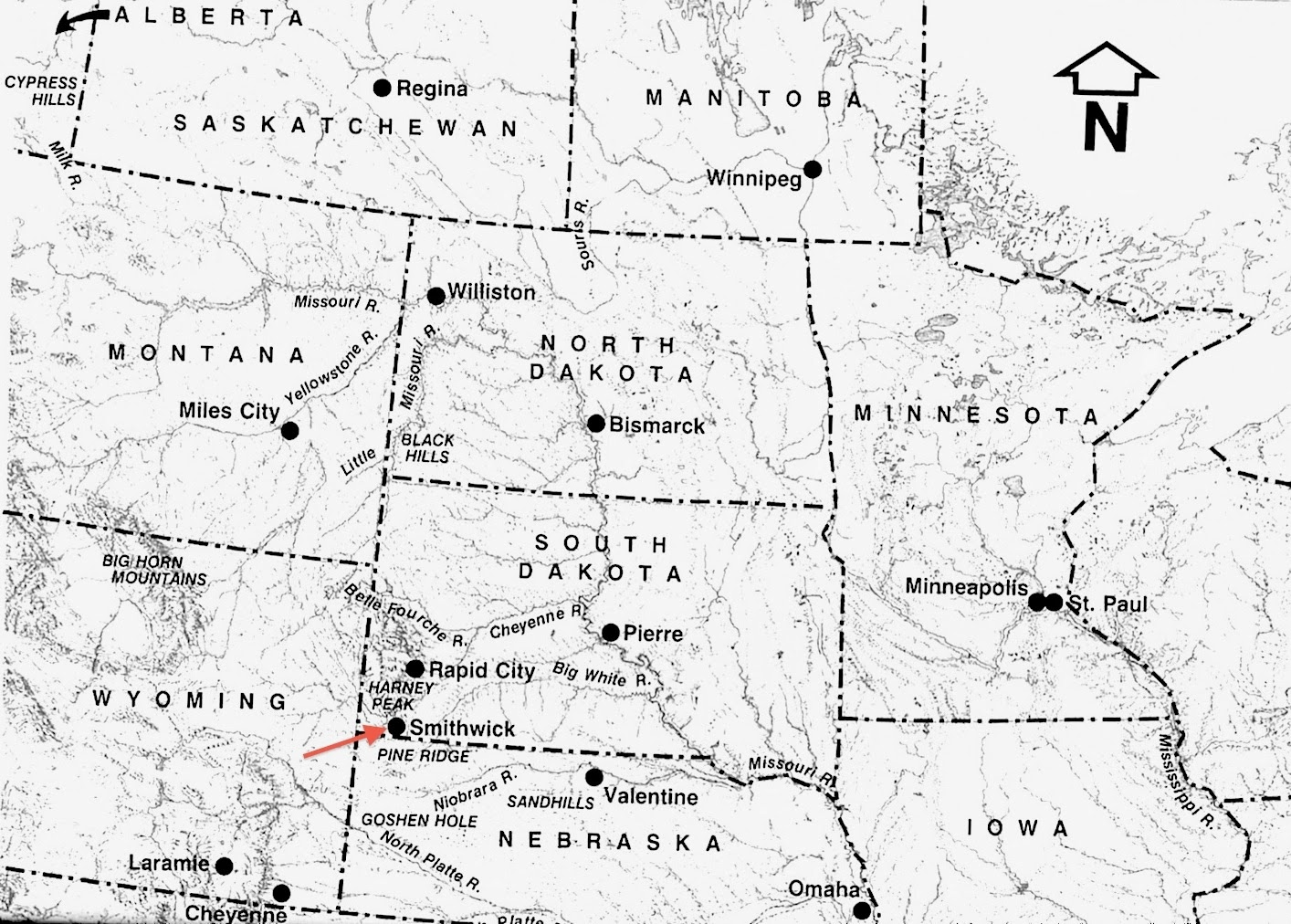 small resolution of northern great plains barr s ranch was near smithwick from jewels of the plains click image to view