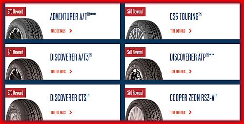 cooper tire rebates