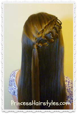 Feather Chain Braid Half Up Hair