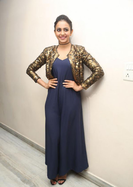 Rakul Preet Singh in Embroidery Jacket Dress by Nitya Bajaj
