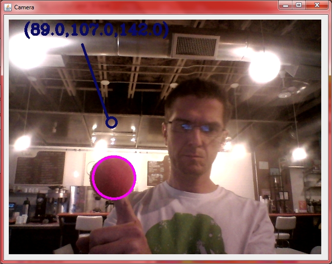 Cell0907: Tracking a ball with Java/OpenCV