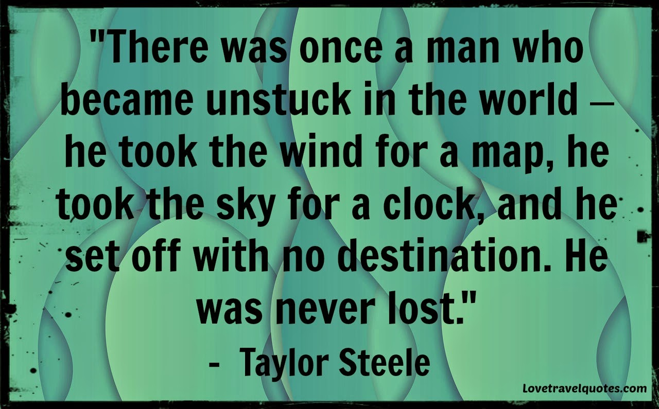 there was once a man who became unstuck in the world