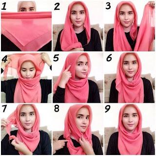 Kreasi Hijab Segitiga
