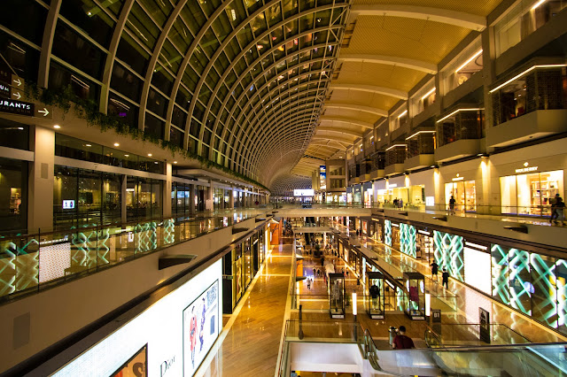 Centro commerciale Marina bay Sands-Singapore