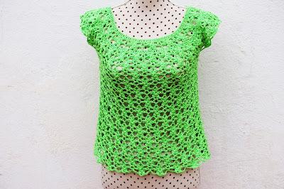 8 - Crochet Imagen Blusa de mujer a crochet muy rapido y facil de hacer a ganchillo. Majovel Crochet.
