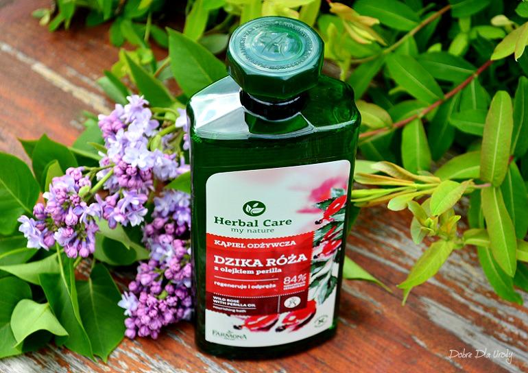 Kąpiel Odżywcza Dzika Róża z olejkiem perilla Herbal Care Farmona recenzja