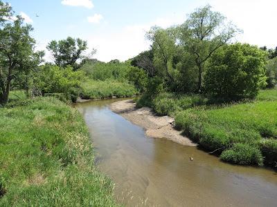 Plum Creek near Walnut Grove, Minnesota. Photo taken from Rt. 14 Bridge.